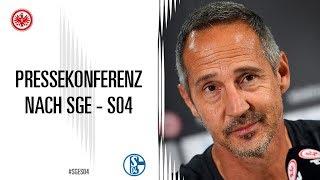 Pressekonferenz nach SGE - Schalke 04