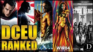 Ranking All 10 DCEU Movies! (W/Justice League Snyder Cut) | DCEU Movies Ranked