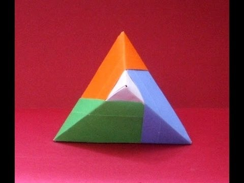 Origami facile faire une pyramide youtube - Video d origami facile ...