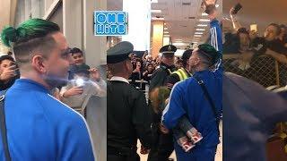 Lary Over llega a Perú y un fan le roba los tenis