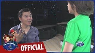 vietnam idol kids 2017 - ca si le minh tap luyen cho cac be cho vong gala
