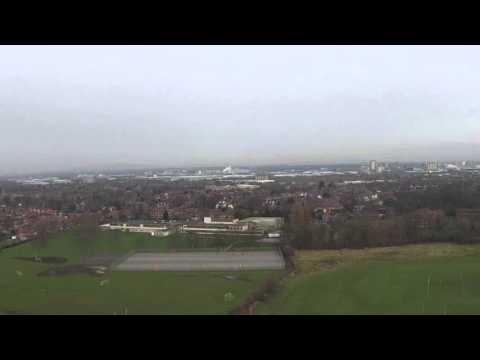 Dji phantom2 vision plus, short flight over Stretford Manchester