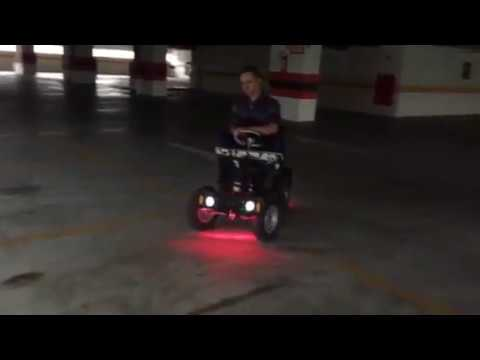 Test drive eletric car made home with remote control.