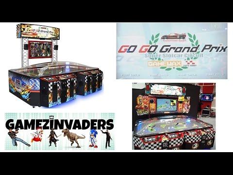 Slot car grand prix game