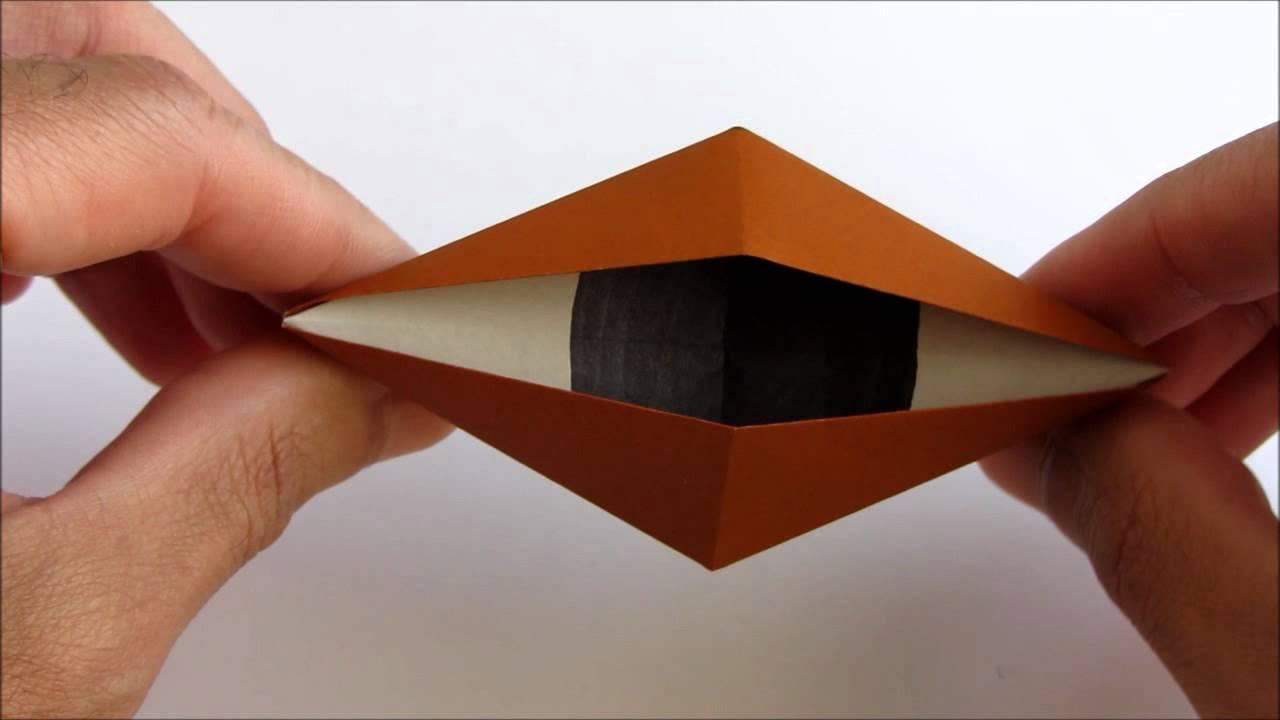 Origami blinking eye youtube jeuxipadfo Choice Image