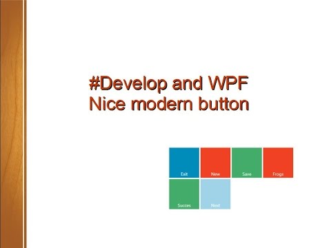 #Develop and WPF, nice modern button