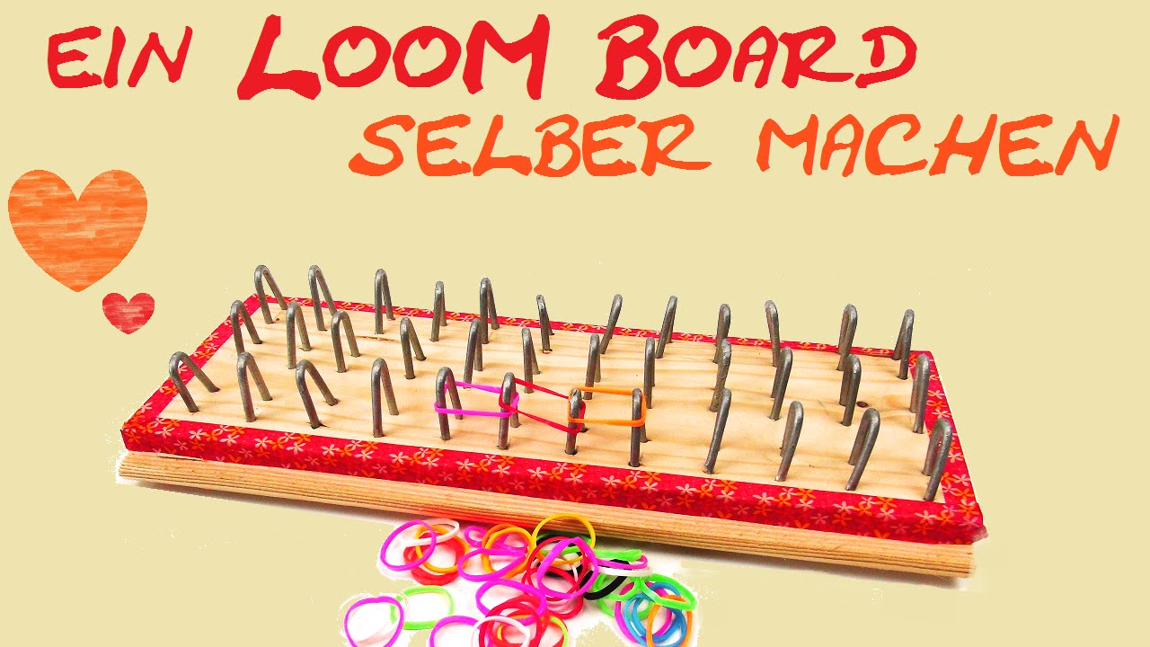 diy loom bands board selber machen herstellen bauen youtube. Black Bedroom Furniture Sets. Home Design Ideas