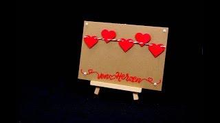 Valentinstag DIY Geschenk basteln | Karte einfach basteln mit Herz | Geschenk schnell selber basteln