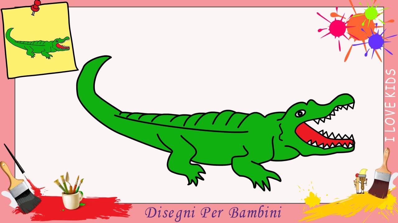 Disegni di coccodrilli facili per bambini come disegnare for Coccodrillo da colorare