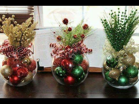Centros de mesa navideños🌲Christmas table centers #christmas #navidad