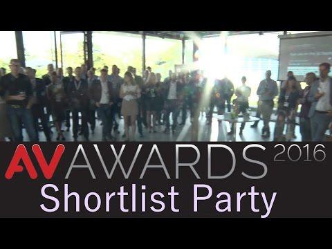 AV Awards 2016 shortlist party | AVTV On Demand