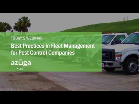 Azuga Webinar - Best Practices in Fleet Management Pest Control Nov2016