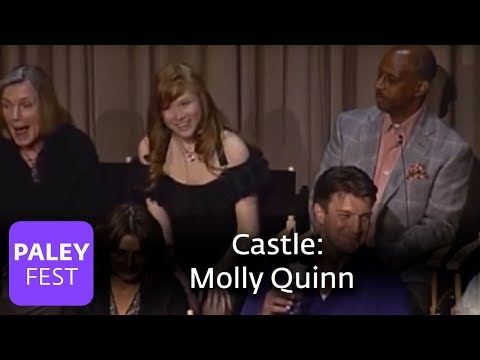 Castle  Molly Quinn on Nathan Fillion Paley Center