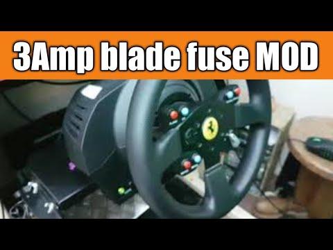TX Race Wheel mod 3 amp blade fuse