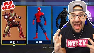 NEW Marvel Superhero skins Come To Fortnite Battle Royale?