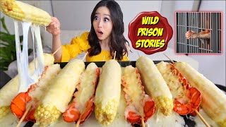 LOBSTER TAIL + CORN GRILLED IN MOZZARELLA CHEESE MUKBANG 먹방 | Eating Show