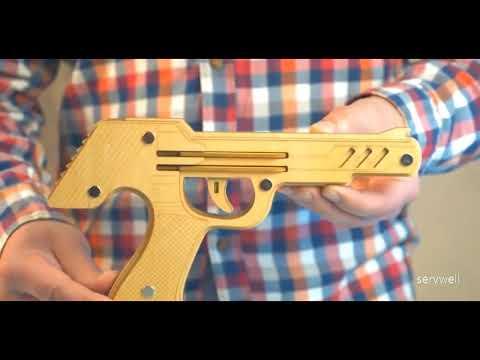 DIY Wooden Rubber Band Gun   Laser Precision Cut