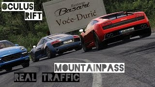 REAL TRAFFIC Mountainpass Cruise Lamborghini Gallardo - Assetto Corsa Gameplay