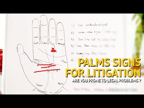 Palmistry - Signs for LITIGATION & LEGAL PROBLEMS