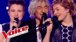 Simon Garfunkel Mrs Robinson Louane Loïs Silvin Louis Bertignac The Voice 2013 Demi Finale