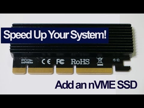 Speed up your PC - Add an nVME add in card for you system