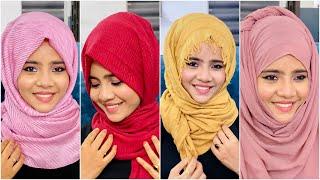 4 Different Hijab Tutorial | Mashura Basheer