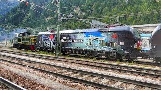 """Lok """"schubsen"""" am Brenner - Vectron Werbelok und ÖBB 1016 und 1116"""