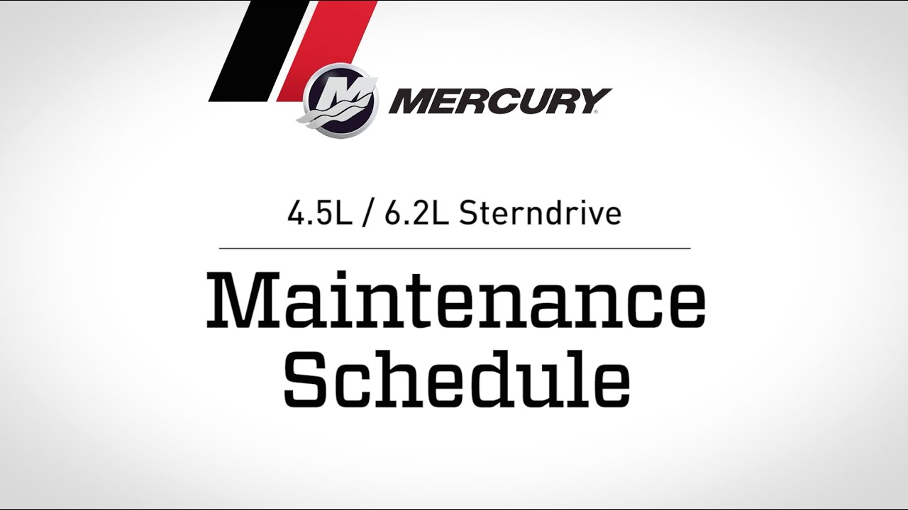 Mercruiser 45l 62l Sterndrive Maintenance Schedule Youtube Mercury Verado Dts Wiring Diagram Marine