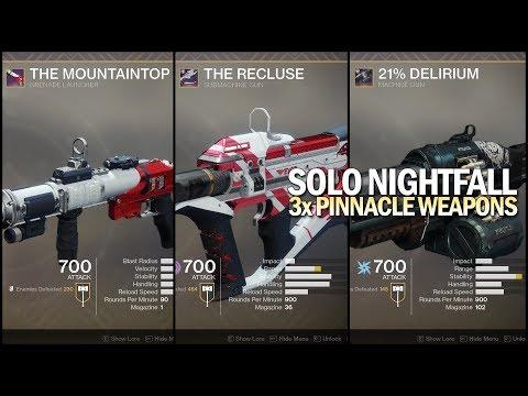 Solo Nightfall w/ 3x Pinnacle Weapons [Destiny 2 Joker's Wild]