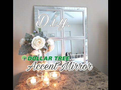 D.I.Y. Dollar Tree Paneled Accent Mirror- $16