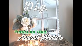 D.I.Y. Dollar Tree Paneled Accent Mirror   - $16