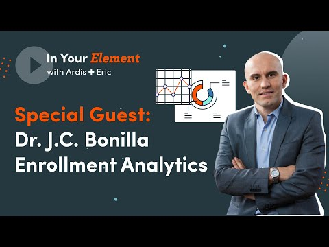 In Your Element -- JC Bonilla talks about his new Enrollment Analytics Certificate Program