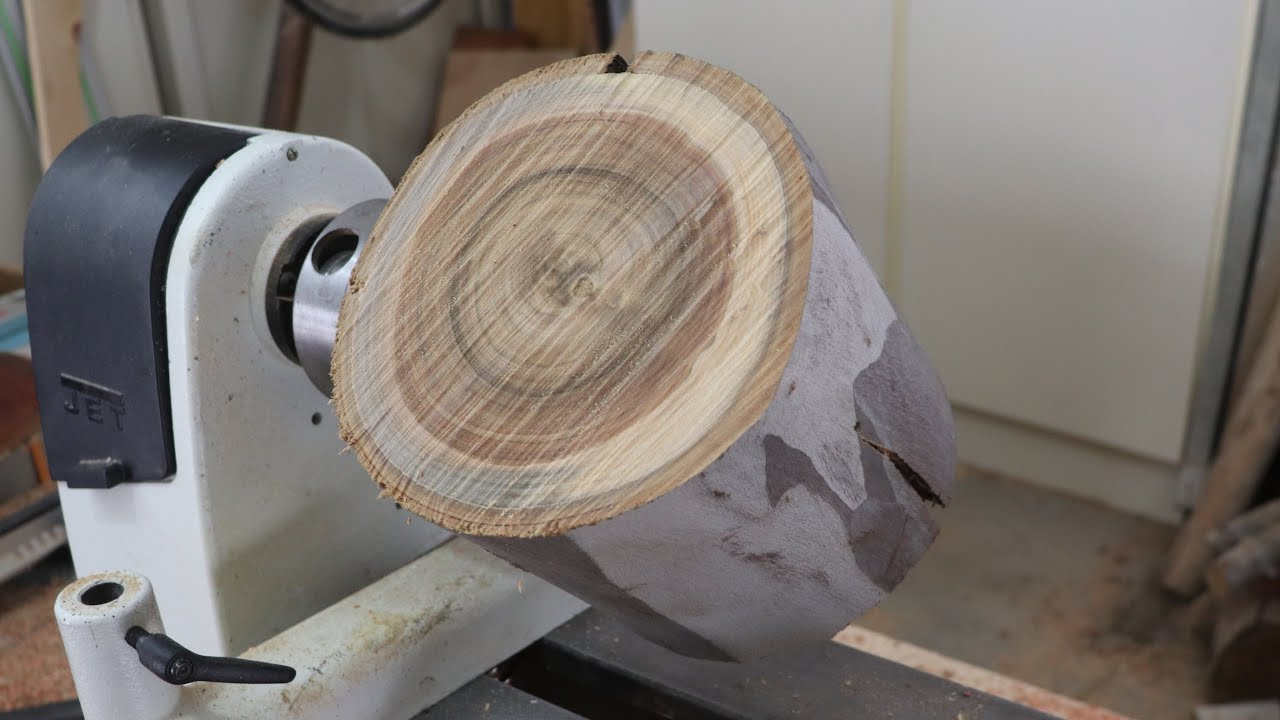 Wood Turning a Log into a Bowl