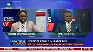 NotTooYoungToRun: Enang Tells Youths Bill Will Get Favourable Response Pt.1 |Politics Today|