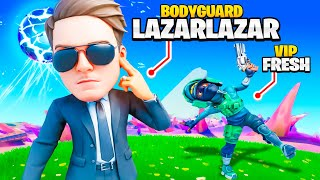 LAZARBEAM BECOMES MY BODYGUARD