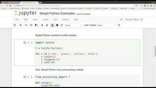 skulpt python as a jupyter notebook