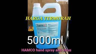 Grosir hand gel sanitizer hamco asli // termurah spray pencegah virus corona //hamco tanpa bilas ...