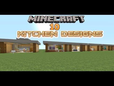 Minecraft 10 Kitchen Designs Youtube
