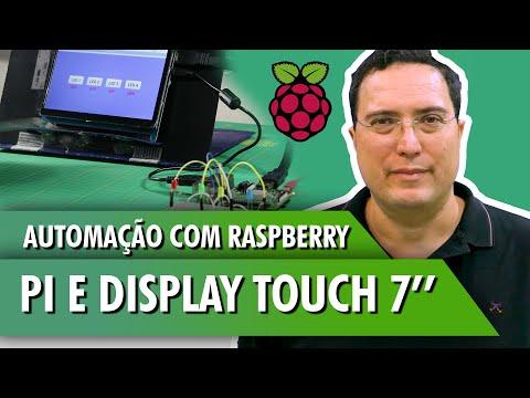 Automação com Raspberry Pi e display touch 7''