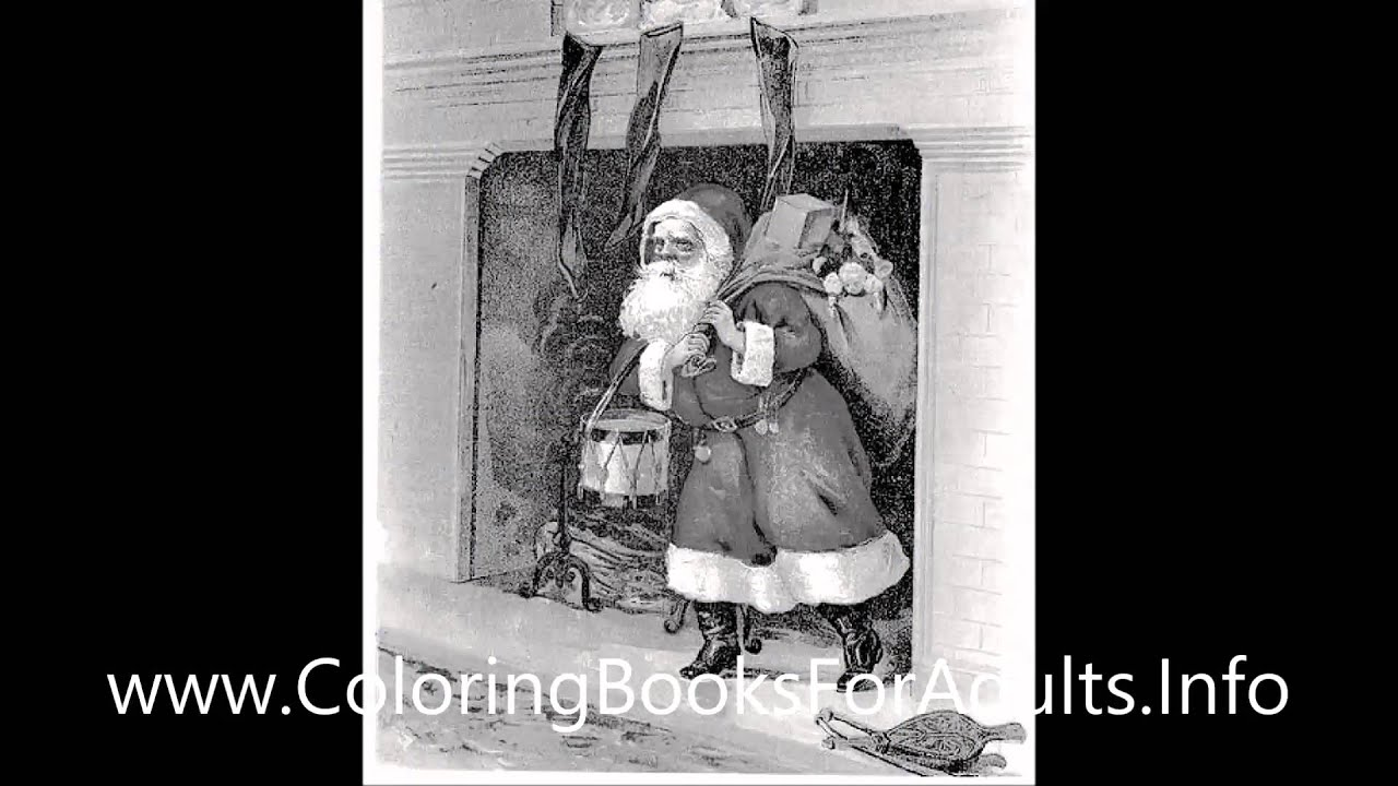 Vintage Christmas Postcard Adult Coloring Book Vol. 3: 25 ...