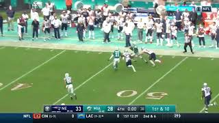 Miami Dolphins Miraculous Game Winning Touchdown vs New England Patriots (2018)