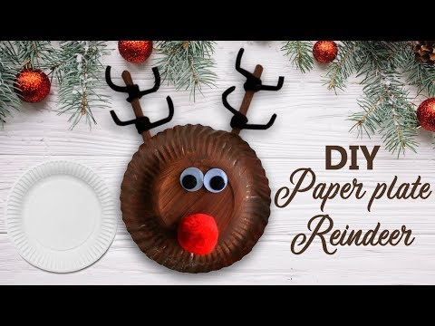 Easy DIY Christmas Decoration Ideas 2018 | Paper Plate Reindeer By Craftsbox