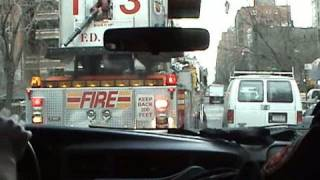 [Ride along] FDNY Battalion chief 10 + Engine 22 + Tower ladder 13