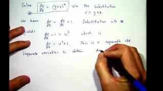 Het oplossen van differentiaalvergelijkingen door substitutie