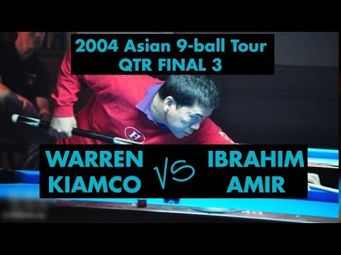Warren KIAMCO vs Ibrahim AMIR - QF 2004 Asian 9-ball Tour