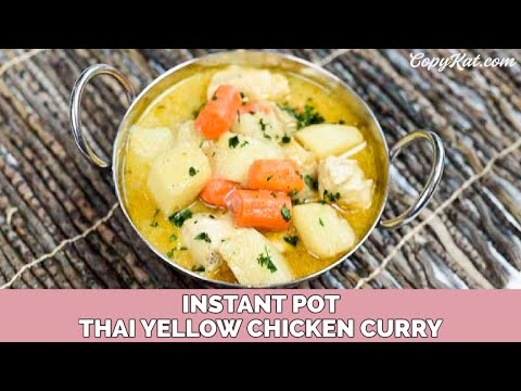 Instant Pot Thai Curry with Chicken and Vegetables