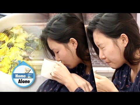 It's Hwasa's First time making Chrysanthemum tea..  [Home Alone Ep 336]