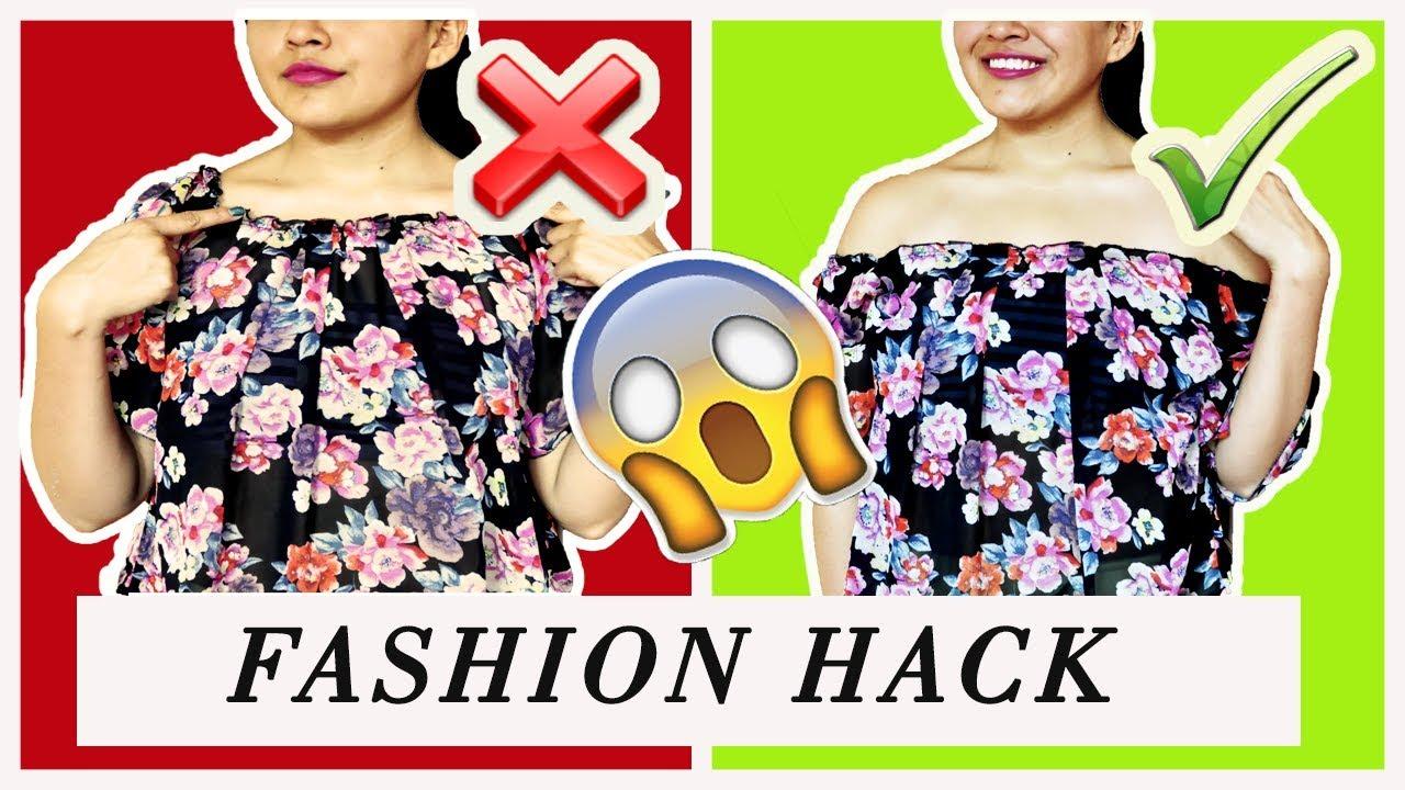 Fashion Hack La Solución A Tus Blusas Favoritas I Diy 2017 Youtube