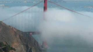 Golden Gate fogged in with fog horns