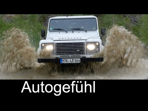 Land Rover Defender Pure Offroad driving with water and POV